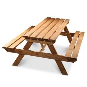 Agad Wooden Picnic Benchbrown In 2020 Wooden Garden Table Wooden Picnic Tables