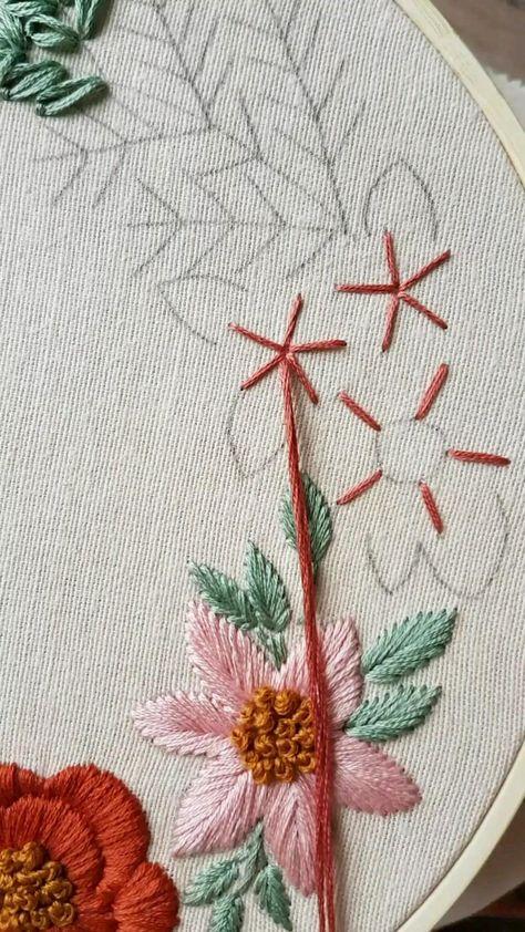 Wowen wheel stitch