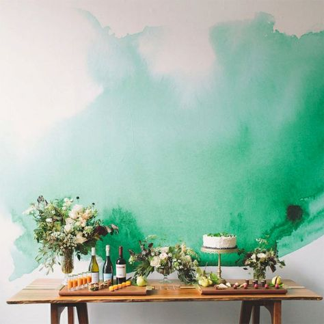 Decor Inspiration A Stunning Watercolour Wall Watercolor Mural