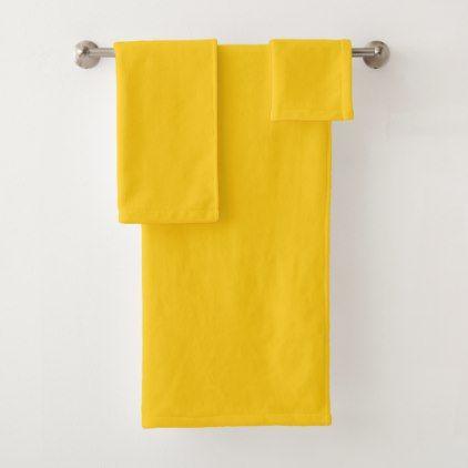 Australian Outback Yellow Ochre Bath Towel Set Zazzle Com Bath Towel Sets Bath Towels Orange Bath Towels