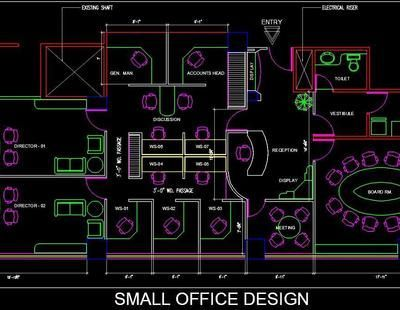 A Small Office Interior Layout Plan With Images Small Office