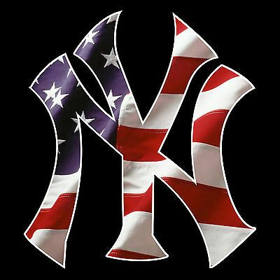 Us Deals Cars 2 5 5 10 15 20 Ny Yankees American Flag Car Window Wall Decal Sticker 6 00 End Date New York Yankees Logo New York Yankees Ny Yankees Logo