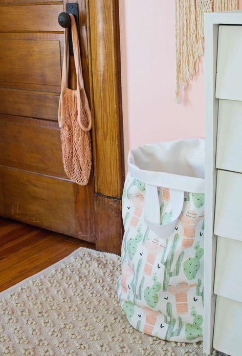 Sew Your Own Fabric Laundry Basket Diy Laundry Basket Laundry