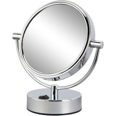 Miroir Grossissant X 5 Rond A Poser H 17 X L 17 X P 12 Cm Mathilde Miroir Grossissant Miroir Miroir Loupe