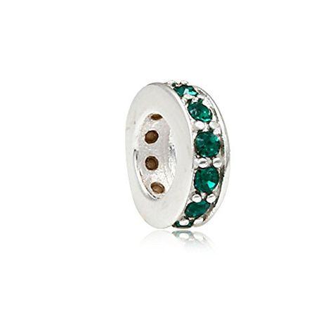 Clement Charm On A 6 1//4 Inch Round Eye Hook Bangle Bracelet St