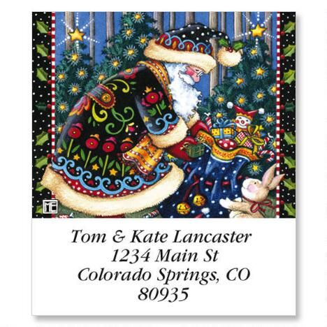 Mary's Woodland Christmas Select Address Labels