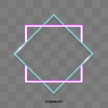 Double Layer Square Irregular Neon Light Effect Border Luminous Efficiency Geometric Double Border Png Transparent Clipart Image And Psd File For Free Downlo Clip Art Borders Neon Lighting White Square Frame