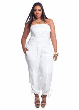 225b0fdd9e3 plus size white linen jumpsuit