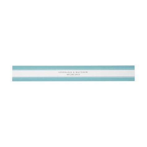 Chic Aqua Border Elegant Script Wedding Suite #elegantwedding #aqua #bluegreen #elegant #chicwedding #calligraphy #typography #simple #borders #mailing