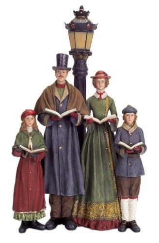 20 Led Lighted Carolers With Lamp Post Table Top Christmas Decoration Multi Christmas Carolers Decorations Lamp Post Christmas Carol