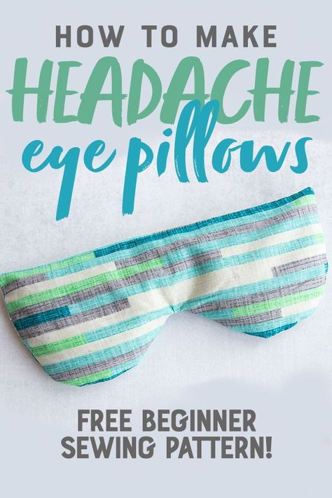 Diy Sewing Projects Making a Soothing Headache Eye Mask requires no prior sewing experience, and takes under 30 minutes. They are perfect for self-care or gifts! Small Sewing Projects, Sewing Projects For Beginners, Sewing Hacks, Sewing Tutorials, Sewing Crafts, Sewing Tips, Diy Gifts Sewing, Sew Gifts, Dress Tutorials