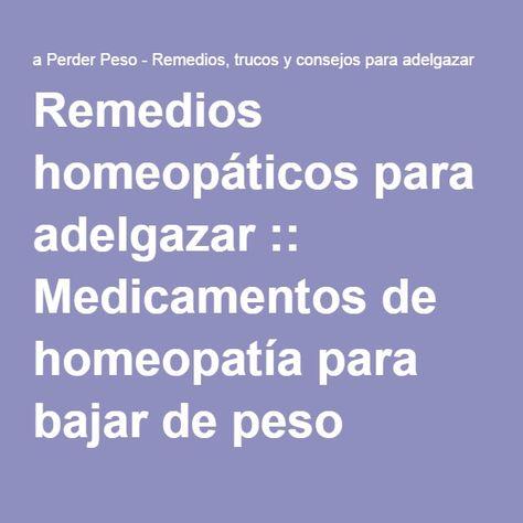 Preparados homeopaticos para adelgazar