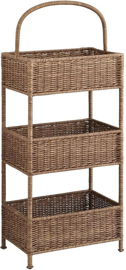 Collin Tiered Light Brown Basket Storage For The Horizontally