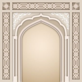 Islamic Arch Design Template In 2020 Design Template Design Islamic Design