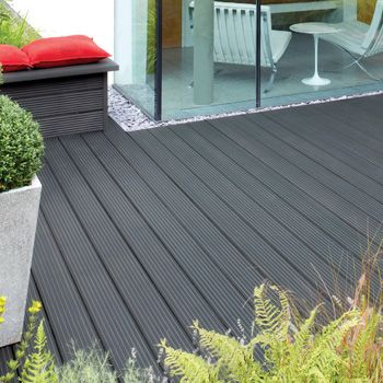 charcoal grey deck stain   Image of Ronseal Ultimate Protection Decking Stain