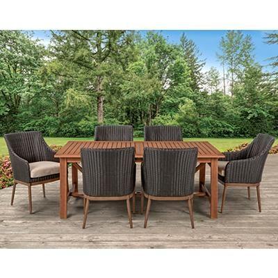 Berkley Jensen Colleyville 7 Pc Dining Set Screen Porch 2019 Patio Set Outdoor Furniture Sets Patio Dining Set