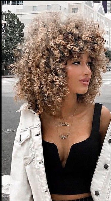 27 Black Curly Hair With Blonde Tips In 2020 Blonde Hair Tips Curly Hair Styles Blonde Highlights Curly Hair