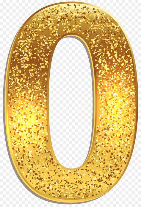 Number Gold 0 Clip art - number 0