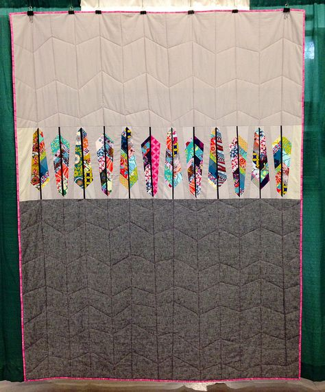 An Anna Maria Horner pattern - so cool!! --  OKC Modern Quilt Guild booth at the OKC Winter Quilt Show 2014 | Flickr - Photo Sharing!
