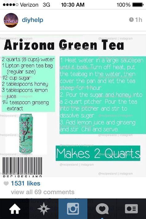 Arizona green tea :) #diy