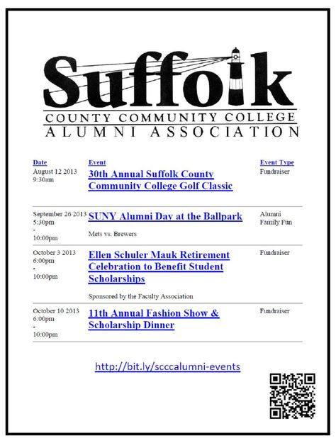 Suffolk County Community College Alumni Calendar 8 2 13 Suffolk - College Golf Resume