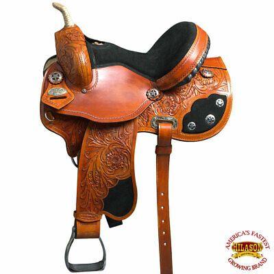 Advertisement Ebay C 1 16 16 Hilason Western Horse Saddle Flex Tree Barrel Trail Riding Leather In 2020 Western Horse Saddles Horse Saddles American Leather