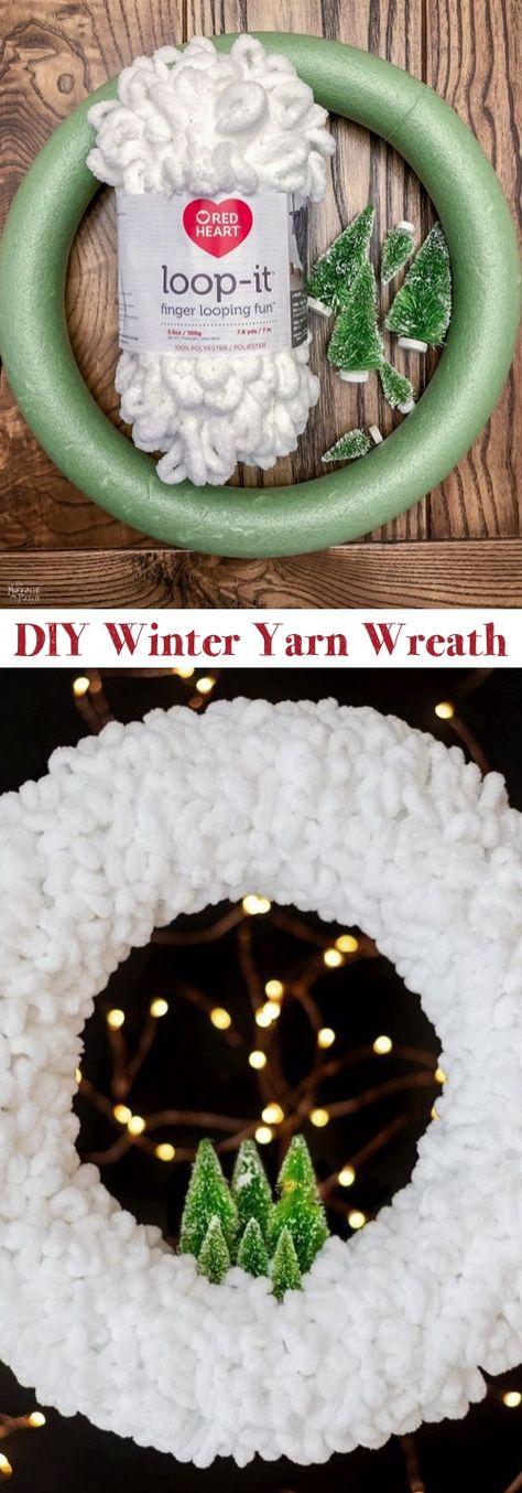 DIY Christmas Wreath - Looks like snow! So easy.