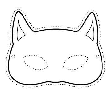 Halloween Mask Black Cat Printable Halloween Masks Black Cat Halloween Black Cat Printable