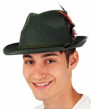 Alpine German Oktoberfest Hat Medium! Green Biaritz