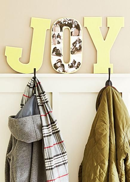 DIY photo letters - how to create photo collages on wooden letters. Here's how: http://www.midwestliving.com/holidays/christmas/6-diy-christmas-photo-projects/?page=2