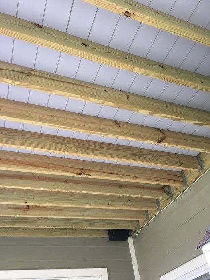 The Installed Decking Also Creates A Bright Ceiling For The Space Underneath Http Www Deckmagazine Com Design Con Building A Deck Diy Deck Porch And Balcony