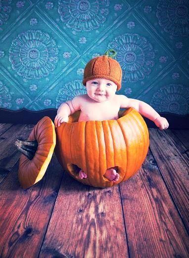 Baby in a pumpkin!
