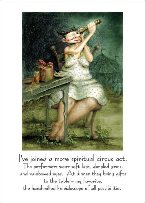 Spiritual circus (Susan Mrosek art)