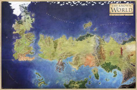 Um Muito Detalhado Mapa De Cronicas De Gelo E Fogo Mapa De Game