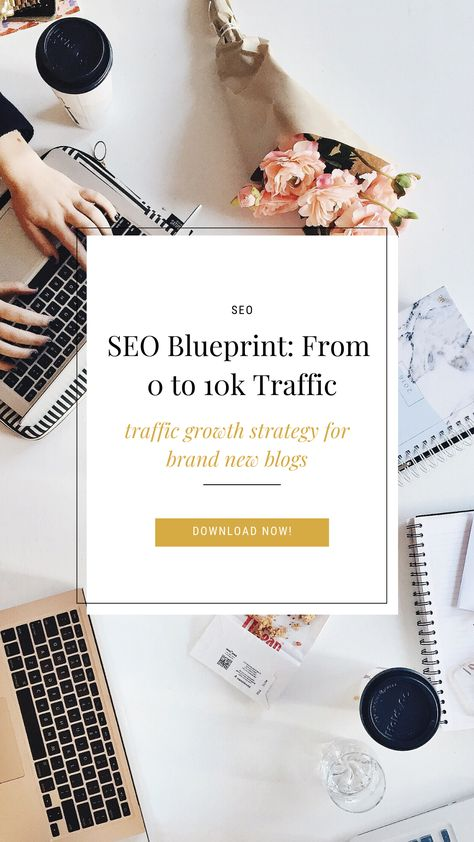 SEO Blueprint: Grow Blog Traffic from 0 to 10K organic visits - Free checklist download!