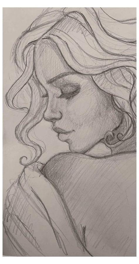 Dark Art Drawings, Girly Drawings, Pencil Art Drawings, Realistic Drawings, Cool Drawings, Beautiful Drawings, Drawings Of Faces, Drawings On Lined Paper, Elf Drawings