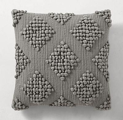 Merino Wool Diamond Pillow Cover