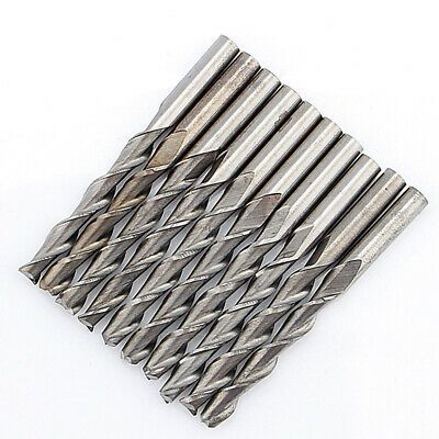 10x 3.175mm Two Flute CNC Solid Carbide Spiral End Mill Woodwork Router Bits New