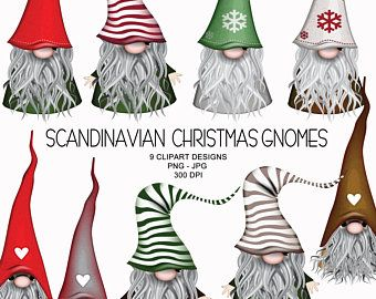 Christmas Deer Nordic Gnomes Art Gnome Clipart Scandinavian Etsy In 2020 Christmas Gnome Clip Art Scandinavian Christmas