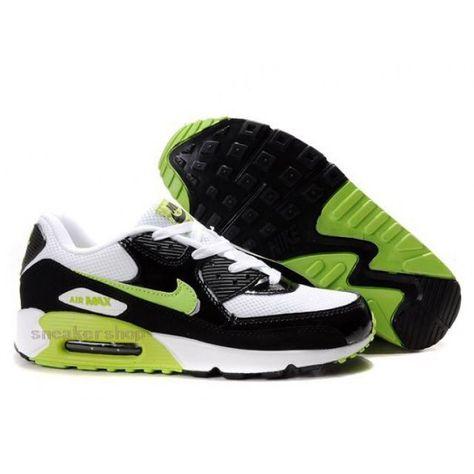 cheap for discount 3a8dc e437c  Nike  sports Nike Air Max Shoes, Nike Mens Shoes Buy Nike Air Max 90 Mens  White Black Green 69