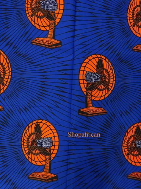 African print fabric sold by yard/ Ankara fabric African Supplies for african dress skirt Blue Afric