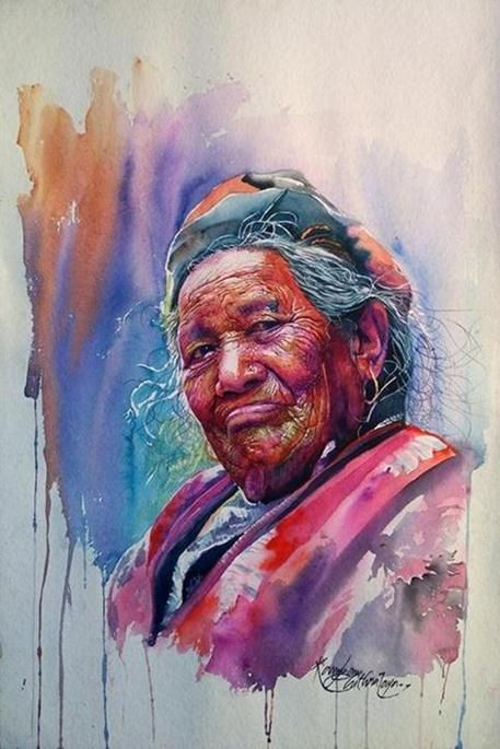 Watercolor Portrait Paintings Interview With Artist Kannan