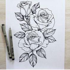 Image Result For Rose Tattoo Comment Dessiner Une Fleur Dessin Fleur Dessin Rose
