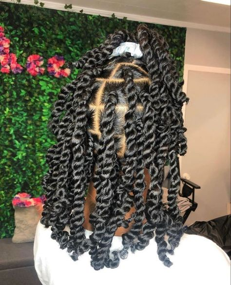 1.Hair Material: 18 Inch Water Wave for Passion Twist Hair,made with 100% high quality low temperature Kanekalon synthetic fiber. 2.Hair Advantages: Our passion twist hair is Super Soft; Lightweight; Tangle free; Itch free; Shedding free; No smell; Very easy to twist and install;Natural&Stylish looking; Long-lasting. Twist Braid Hairstyles, Braided Hairstyles For Black Women, Baddie Hairstyles, African Braids Hairstyles, Braids For Black Hair, My Hairstyle, Girl Hairstyles, Protective Hairstyles, Protective Styles