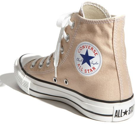 Converse Chuck Taylor High Top Sneaker in Beige (frappe) | High ...