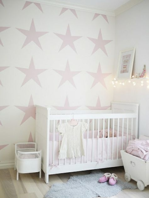 Malerschablone Sterne Fur Wandgestaltung Im Babyzimmer 62
