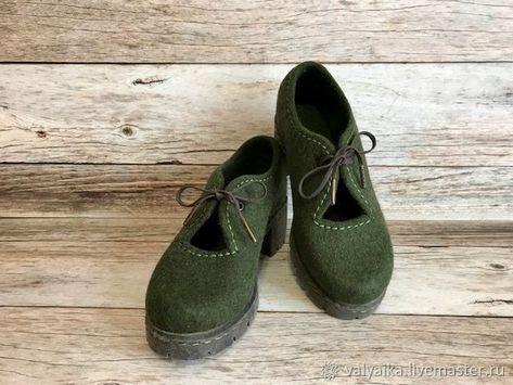 fc921869b5a9d Купить или заказать Туфли валяные в интернет магазине на Ярмарке Мастеров.  С доставкой по России