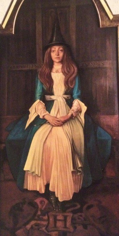 Seraphina Bones was a witch whose portrait hung at Hogwarts Castle in the 1990s. It is possible that Seraphina is a forerunner of the Bones family, which was active in the 20th century. Behind the scenes This portrait was based on a 1890 portrait of Elsie Palmer (1873–1955), by John Singer...