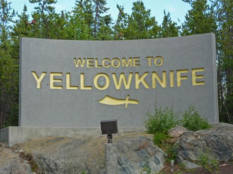 Yellowknife Northwest Territories  Town Signs  Pinterest
