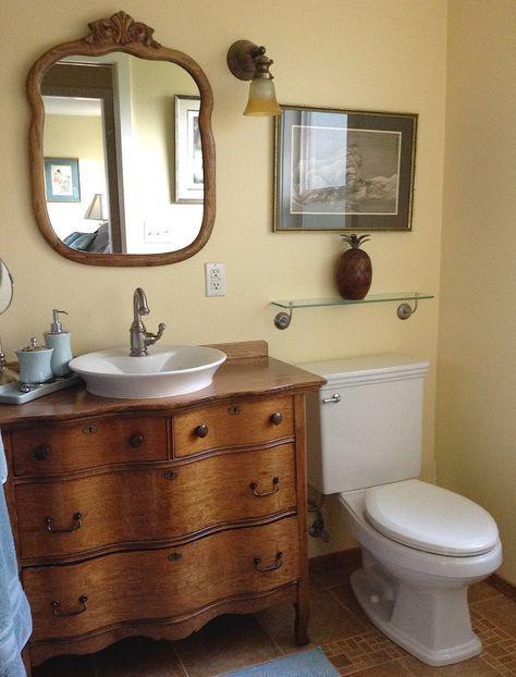 30 Neue Ideen Bauernhaus Waschbecken Vanity Antique Dressers Antique Bauernhaus Dressers Ideen Neu In 2020 Farmhouse Bathroom Sink Dresser Sink Vanity Vanity Sink